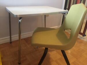Vintage kids table and chair