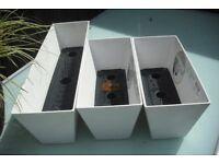 1 set of 3 Artstone planters uique drainage system