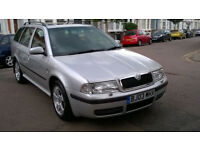 SKODA OCTAVIA 1.9 TDI ELEGANCE DIESEL ESTATE 2003 03 REG SILVER 5 SPEED MANUAL PAS A/C 131K SUPERB