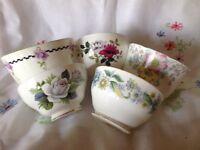 Vintage china sugar bowls job lot x 5