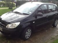 Hyundai Getz 07 plate black 5 doors new exhaust mot till January