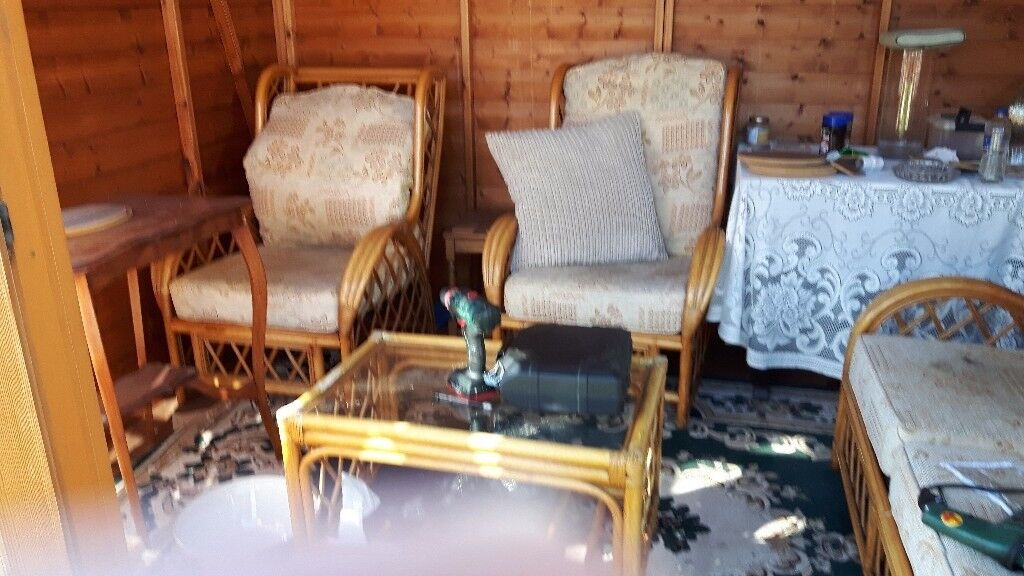 Cane furniturein Wigston, LeicestershireGumtree - Cane furniture 2 seater settee 2 chairs plus small table house move forces sale