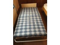 Single Fold Up Bed with Mattress. Excellent Condition