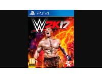 WWE 2k17 2017 PlayStation 4 game ps4 postage available
