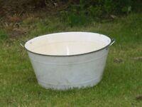 white enamel tin bath for sale