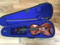 Stentor student I, 3/4 size violin with case, bow and resin.