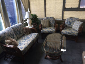 Bamboo set (couches and tables) for sale