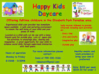 Child Care Spaces Available 1-2 years