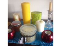 Scented candles Miscellany plus glass candlestick