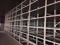 JOB LOT 100 bays of LINK industrial shelving 3m high AS NEW ( storage , pallet racking )