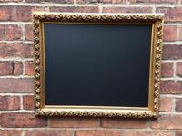 Gold chalkboard lovely plastic mould chalkboard wedding chalkboard sign