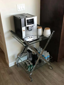 Small Table/Coffee or Tea Cart/ Storage on Wheels