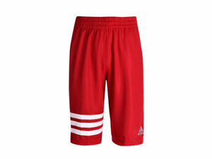 Adidas Men's Red 3-Stripe Basketball Shorts - New with Tags