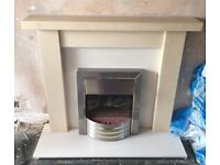 Electric Fire with Surround and Hearth