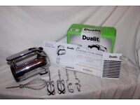 Boxed Dualit DHM3 hand mixer, new condition.