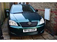 Very nice and reliable Toyota Corolla 1.4 petrol with some upgrades. All good and ready to go!