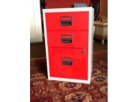 Small metal filing cabinet