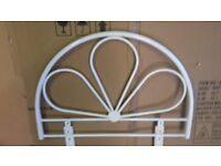 Headboard for single bed 2ft 6 and 3ft. White metal