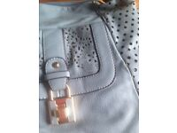 BRAND NEW slate grey/light blue HANDBAG
