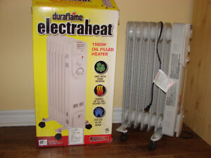 Electric heater 1500W, portable, oil filled - Brand new