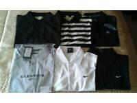 6 medium polo shirts. Brands. Nike. Adidas. Glenmuir. Woodworm.