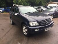 2003 MERCEDES ML270 CDI AUTO BLUE 4X4 FULLY LOADED 7 SEATER