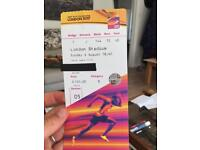 2 x Great tickets for IAAF world athletics champs
