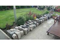 Granite and basalt setts