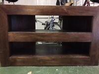 Dark wood (mango) TV etc stand