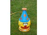RARE French Joustra Cedi Wham-o FUN FOUNTAIN Clown Hat Sprinkler Water Toy 1979