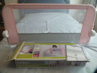 LINDAM BED RAIL IN PINK - UNMARKED WITH BOX + INSTRUCTIONS
