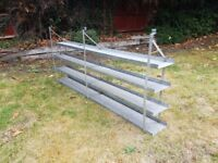 Handy galvanised garden or shed shelving unit