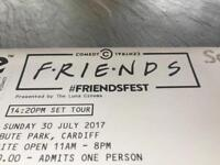 2x Friends fest Cardiff tickets Sunday 30th July