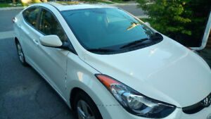 White Hyundai Elantra Sedan 2012