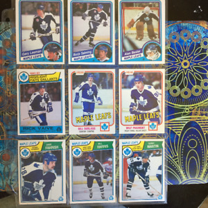 16 Old Toronto Maple Leafs Hockey Cards - 1980s