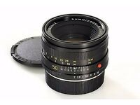 leica summicron r 50mm f2 lens MINT