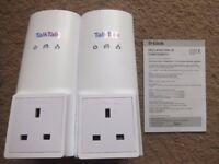 A pair TalkTalk D-Link DHP-326AV 200Mbps Power Line Adaptors/Plugs