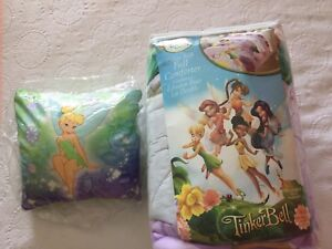 Tinker Bell bed comforter and pillow for double bed