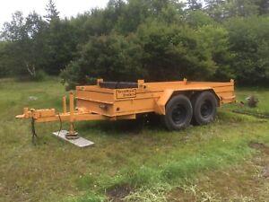 Heavy duty tandem utility trailer 6x12 OBO