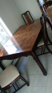 Antique dinning room table set.