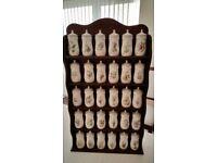 Flower Fairy spice jars - 30 jars with rack