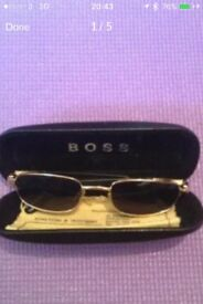 Boss sun glasses slight scratch hardly to notice, good condition ... ...