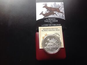 2014 $20 Silver Coin-The White- Tailed Deer  - Mates