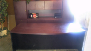 Big office desk and cabinet