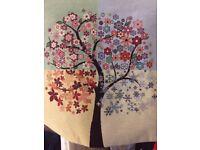 Italian trees of life canvas per 2.Handmade