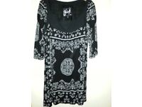 Next black/white tunic top size 18 - excellent condition