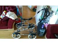 Bebecar pram, seat unit and chassis