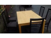 Dining Table & Six 6 Solid Chair in good strong condition can deliver local