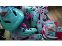 Kids Frozen Roller Skates (Size 11.5 to 1 Adjustable)