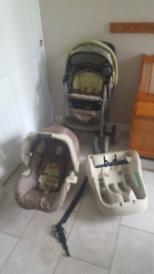 car seat and stroller, bottle warmer, sound monitor, bouncer...